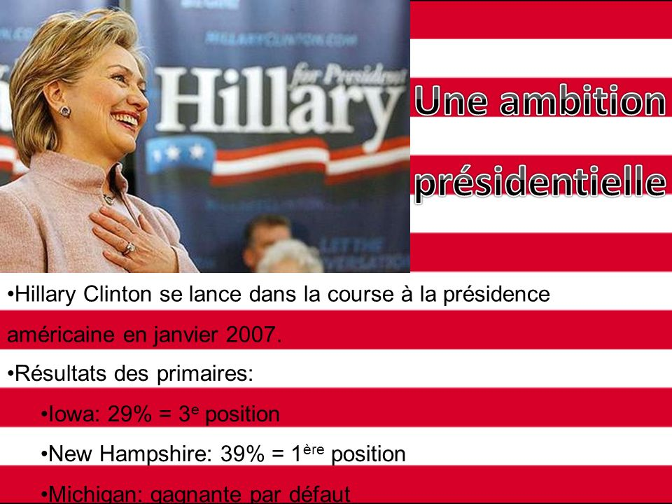 Une ambition présidentielle