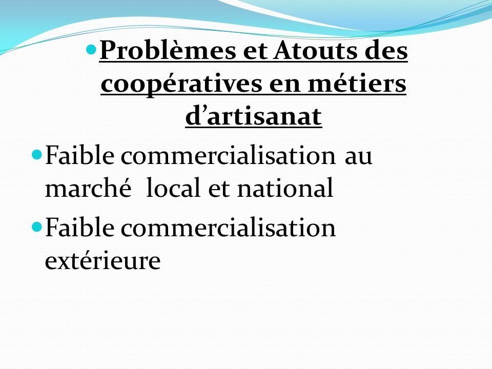 Problèmes et Atouts des coopératives en métiers d'artisanat