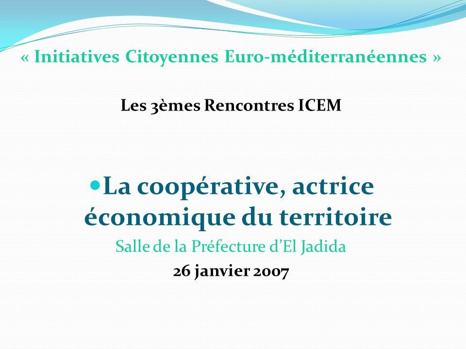 La coopérative, actrice économique du territoire