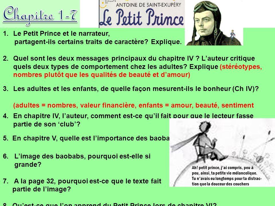Chapitre 1-7 Le Petit Prince et le narrateur,