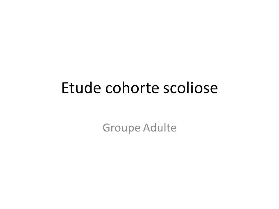 Etude cohorte scoliose
