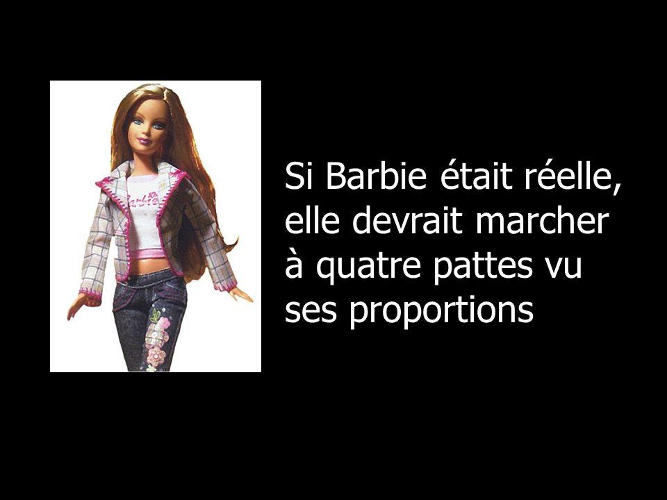 Si Barbie était réelle, elle devrait marcher à quatre pattes vu ses proportions