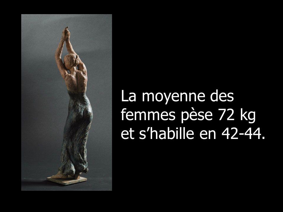 La moyenne des femmes pèse 72 kg et s'habille en 42-44.