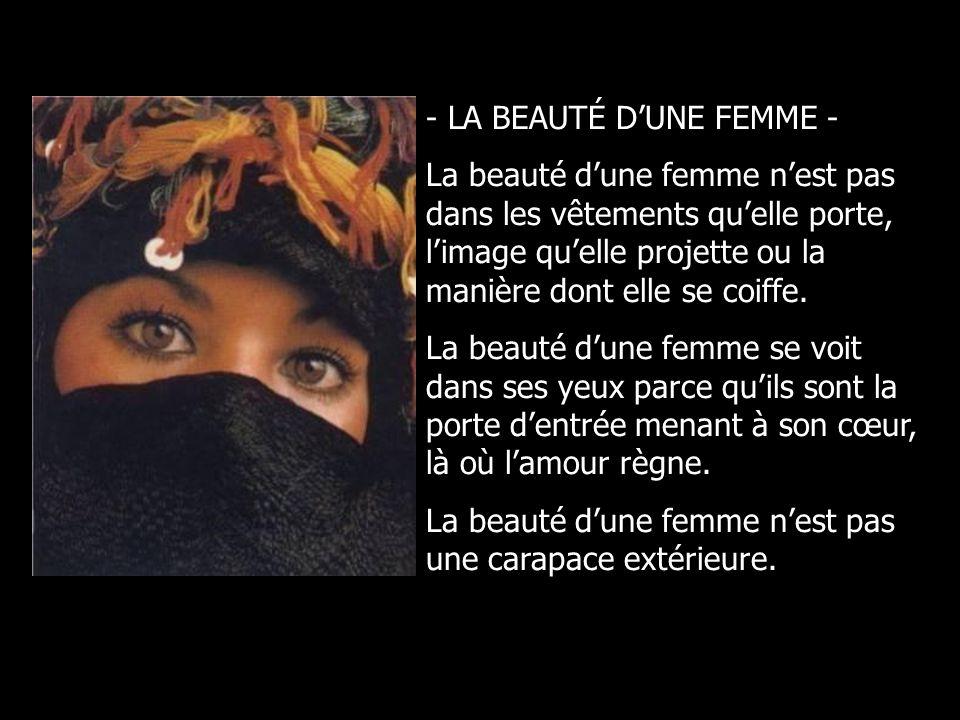 - LA BEAUTÉ D'UNE FEMME -