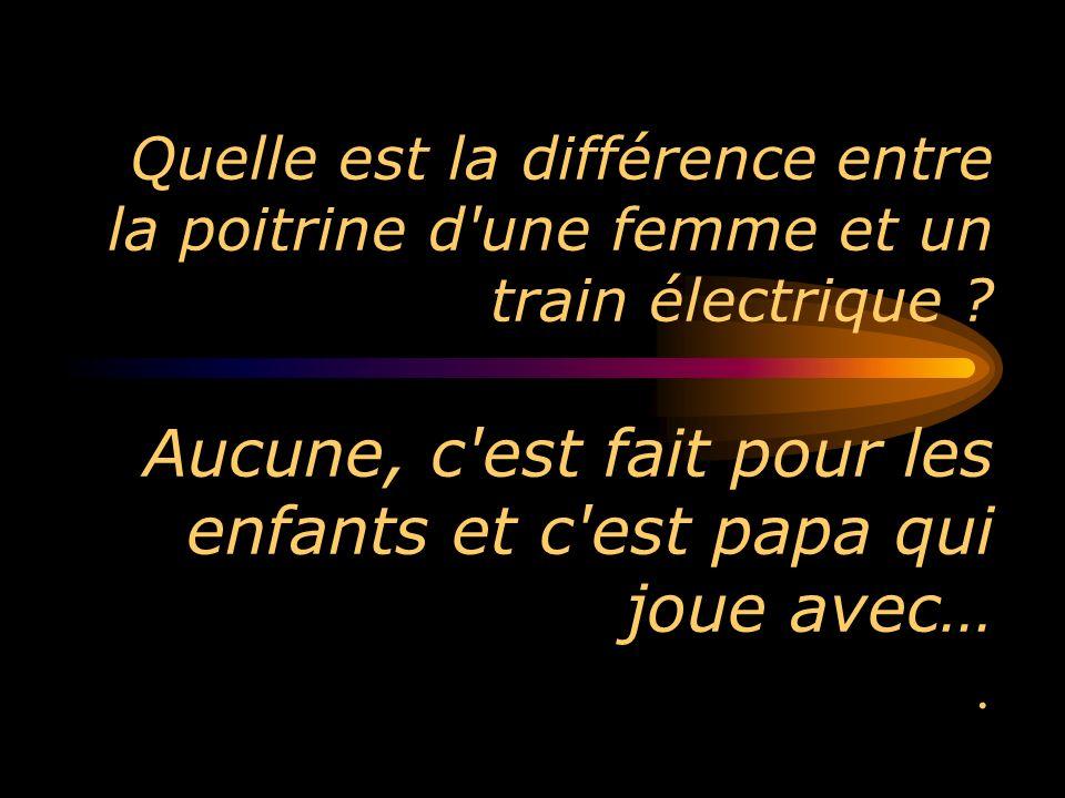 Quelle est la différence entre la poitrine d une femme et un train électrique .