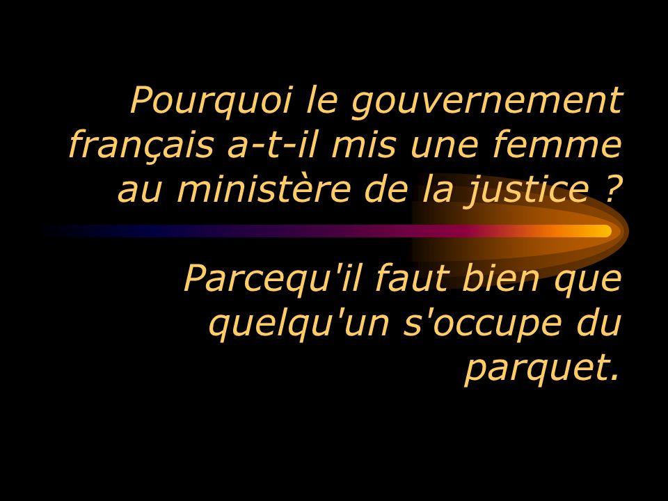 Pourquoi le gouvernement français a-t-il mis une femme au ministère de la justice .