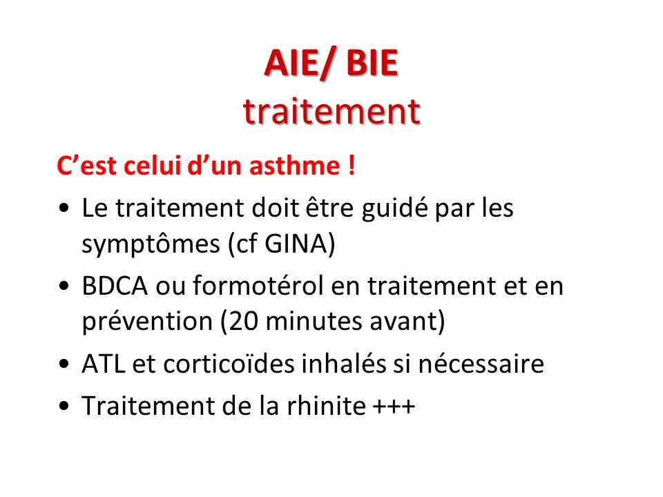 AIE/ BIE traitement C'est celui d'un asthme !