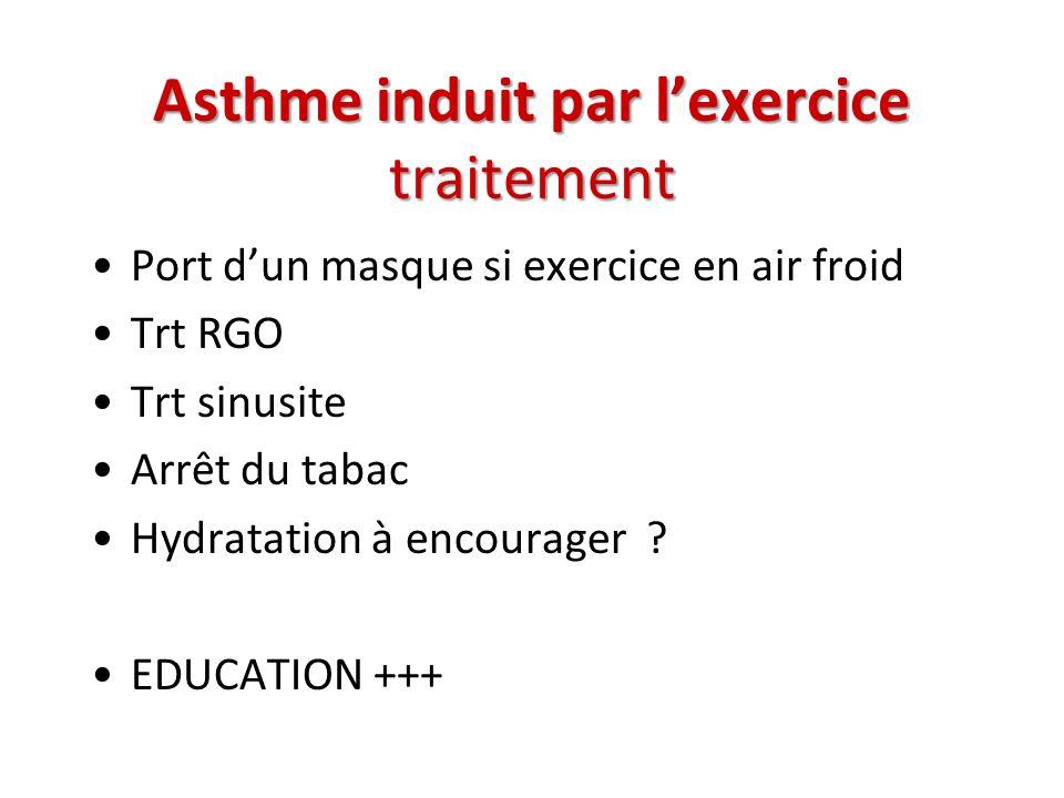 Asthme induit par l'exercice traitement
