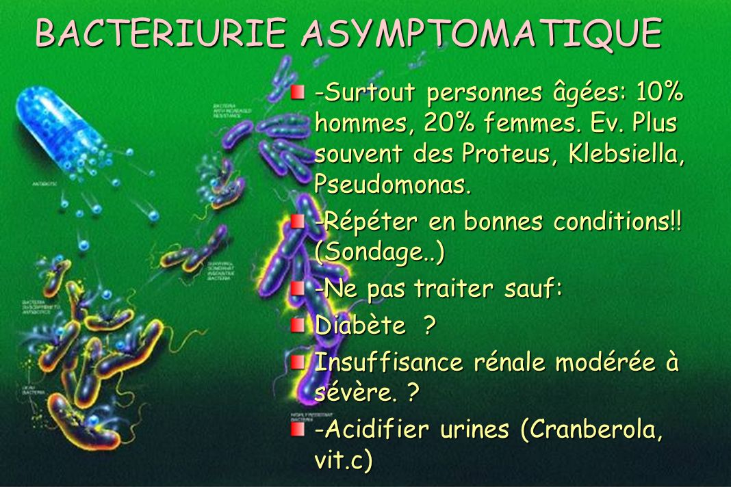 BACTERIURIE ASYMPTOMATIQUE