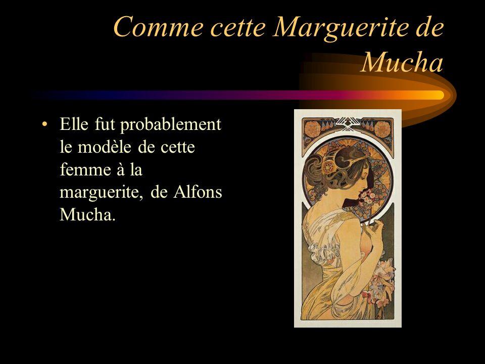 Comme cette Marguerite de Mucha