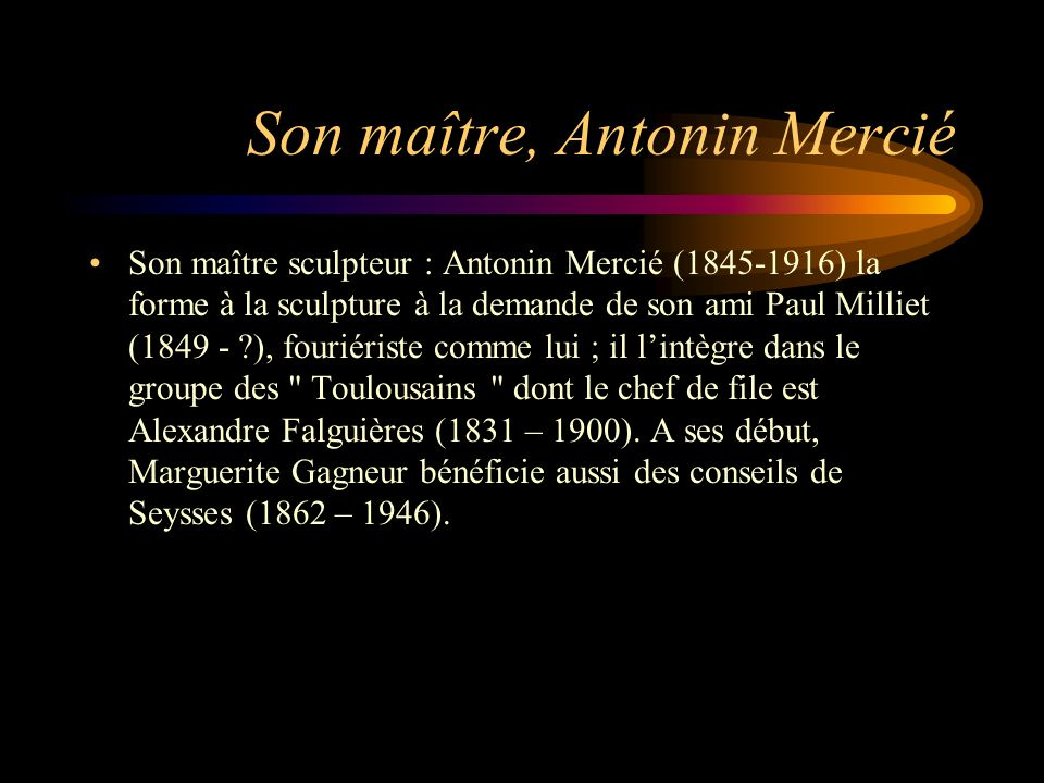 Son maître, Antonin Mercié
