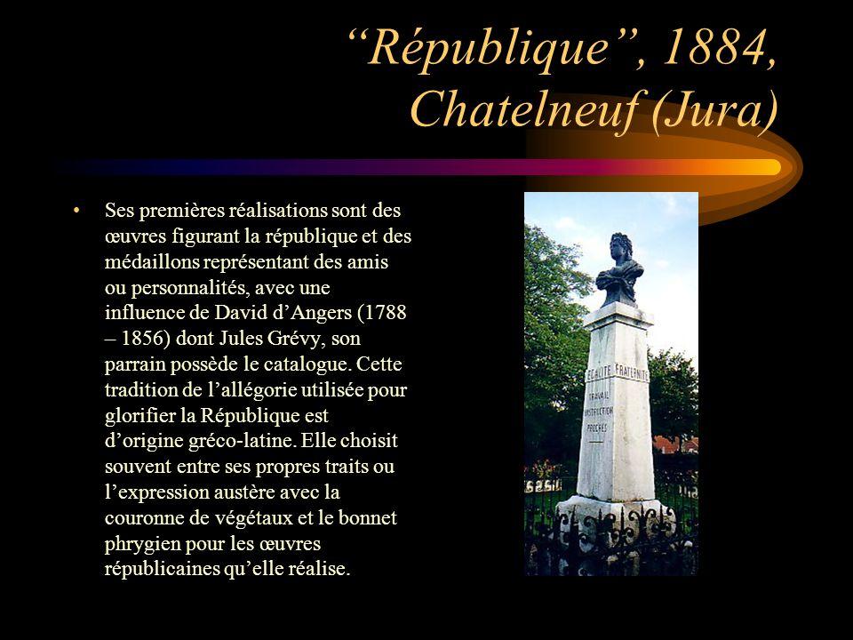 République , 1884, Chatelneuf (Jura)