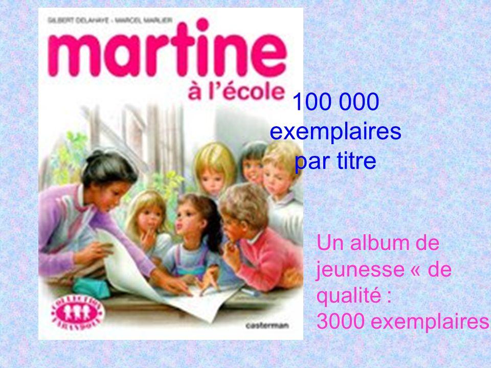 100 000 exemplaires par titre Un album de jeunesse « de qualité :