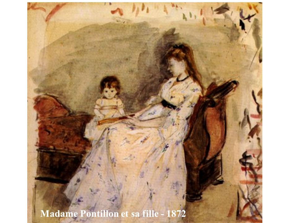 Madame Pontillon et sa fille - 1872