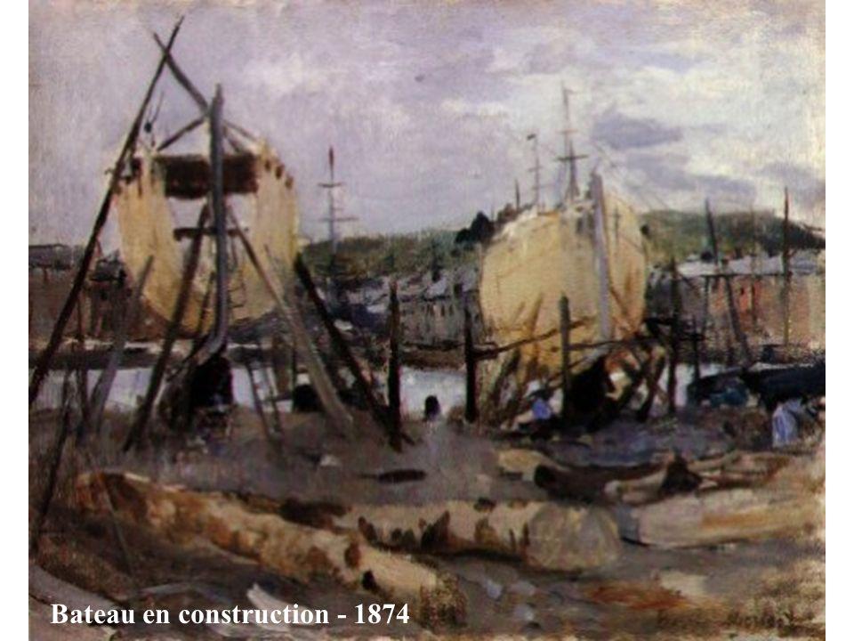 Bateau en construction - 1874