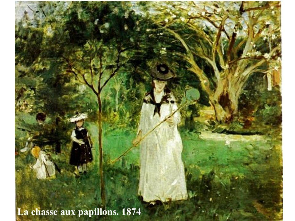 La chasse aux papillons. 1874