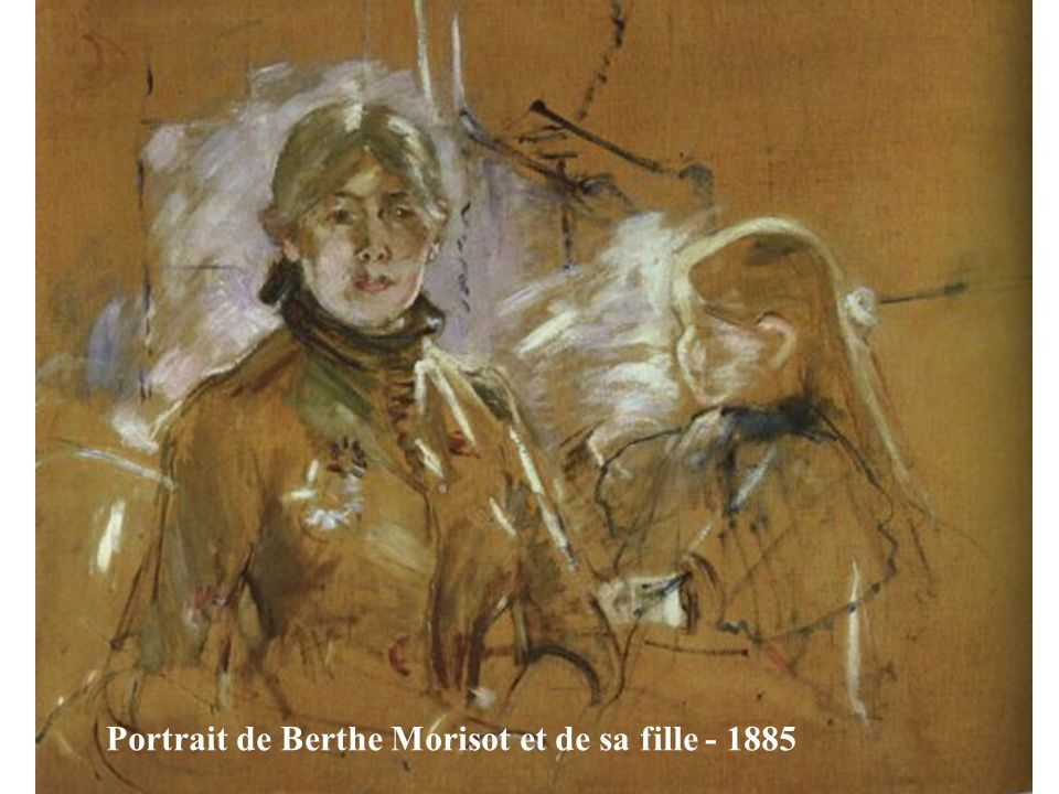 Portrait de Berthe Morisot et de sa fille - 1885