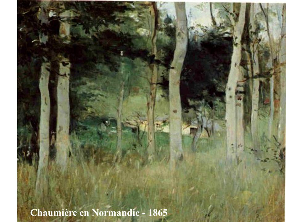 Chaumière en Normandie - 1865