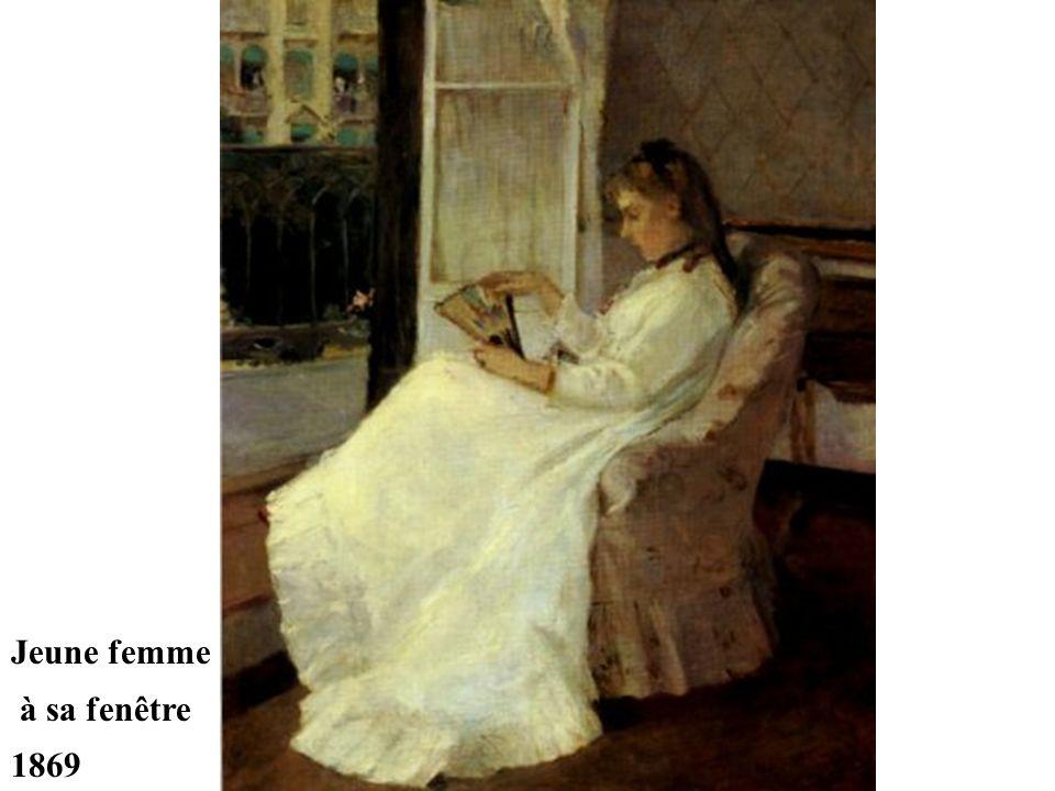 Jeune femme à sa fenêtre 1869