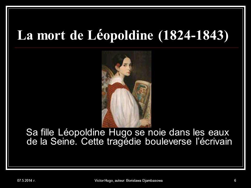 La mort de Léopoldine (1824-1843)