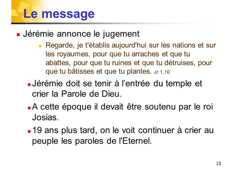 Le message Jérémie annonce le jugement
