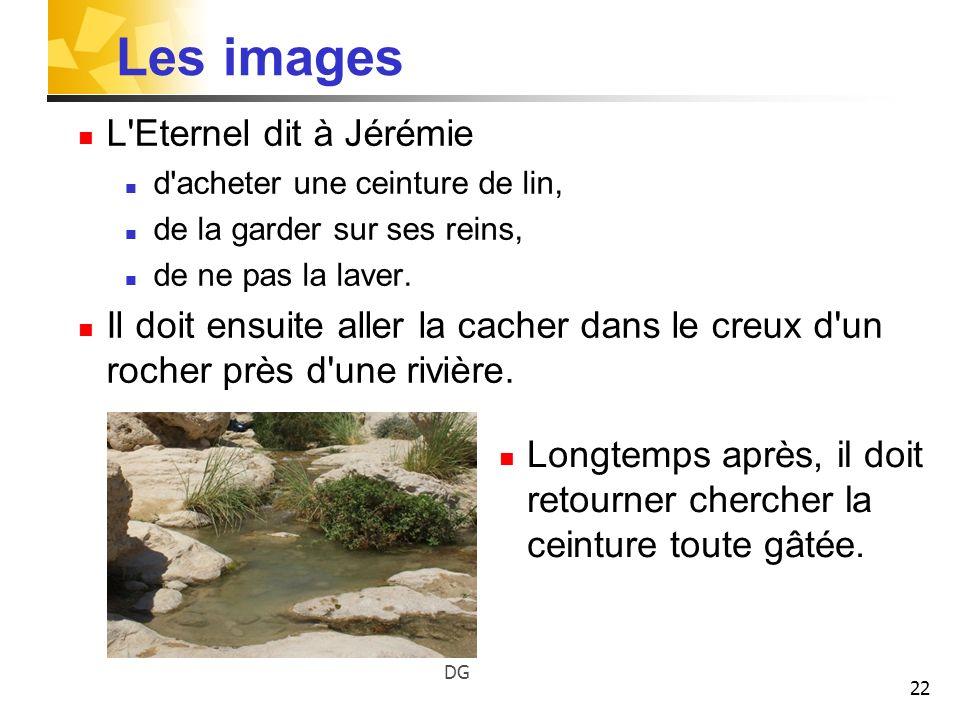 Les images L Eternel dit à Jérémie