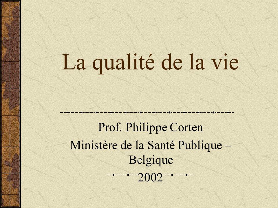 Prof. Philippe Corten Ministère de la Santé Publique – Belgique 2002