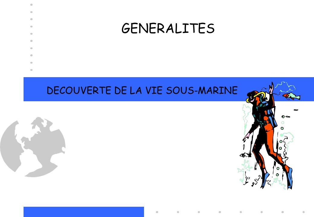 DECOUVERTE DE LA VIE SOUS-MARINE