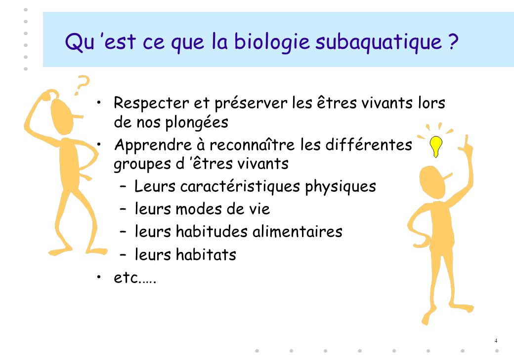 Qu 'est ce que la biologie subaquatique