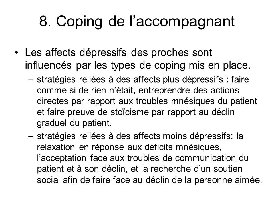 8. Coping de l'accompagnant