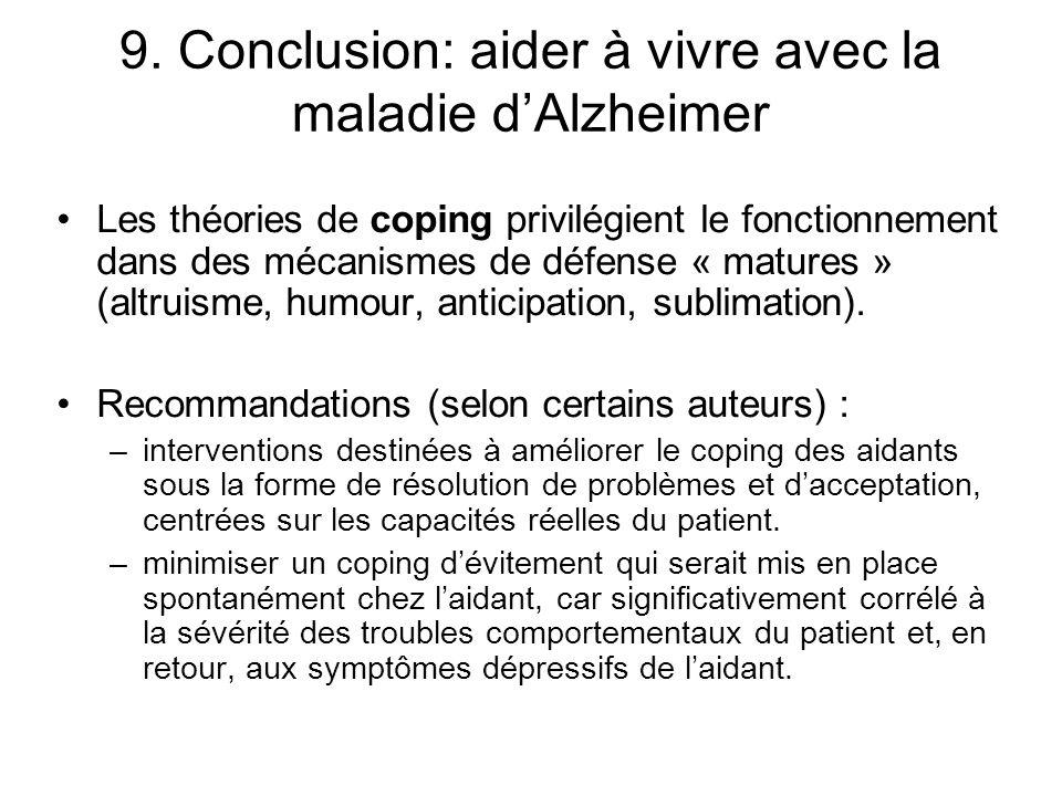 9. Conclusion: aider à vivre avec la maladie d'Alzheimer