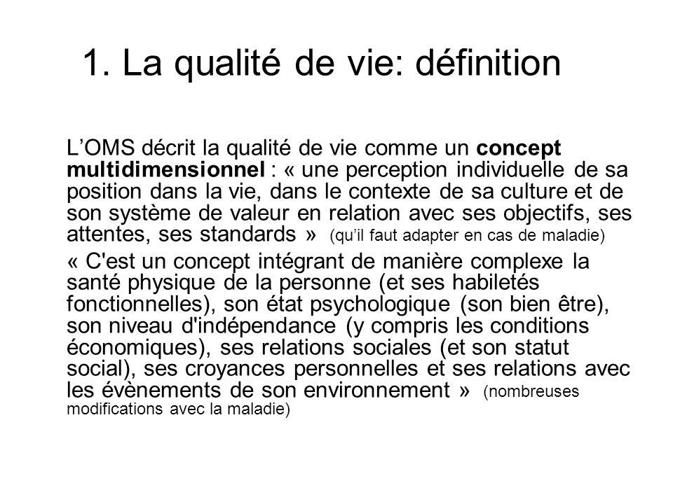 1. La qualité de vie: définition