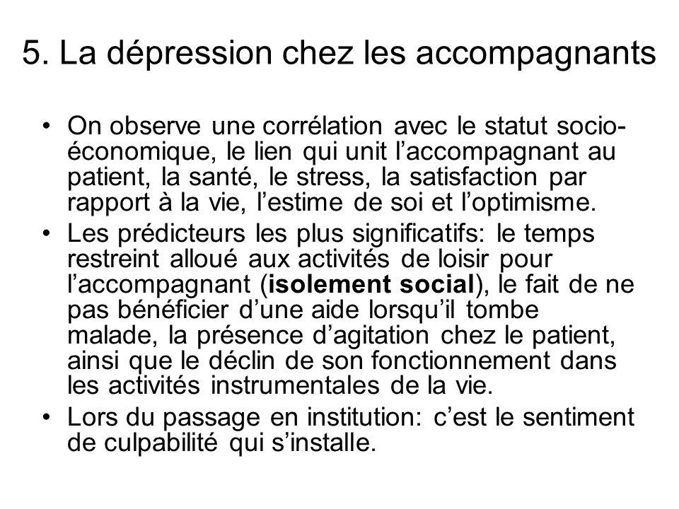 5. La dépression chez les accompagnants