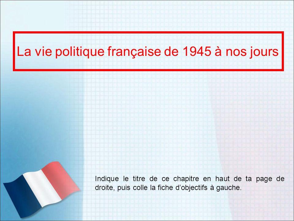 La vie politique française de 1945 à nos jours