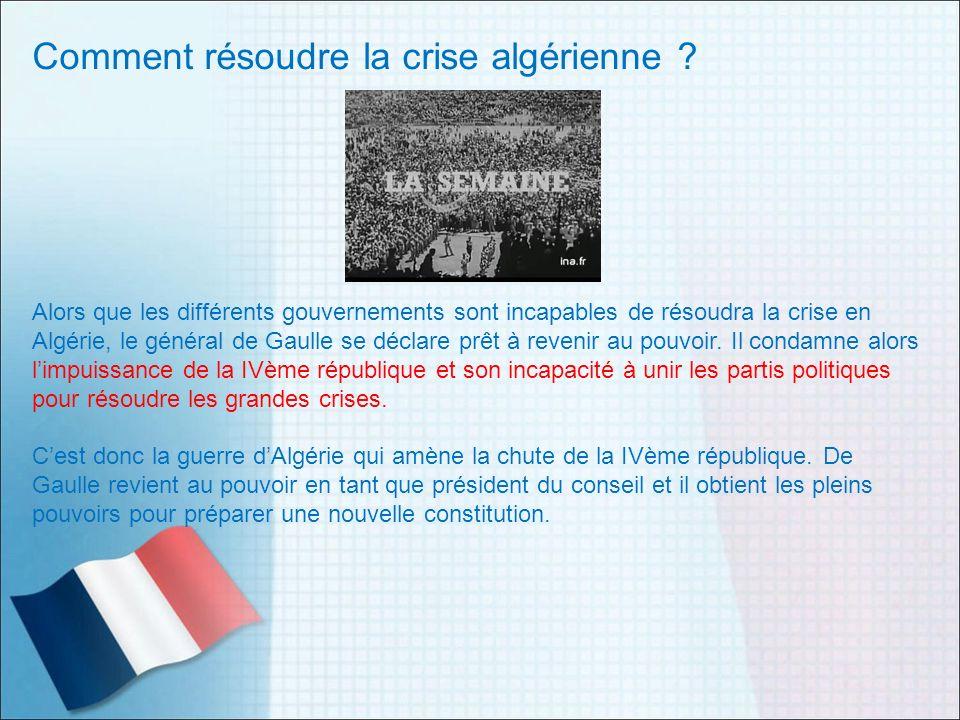 Comment résoudre la crise algérienne