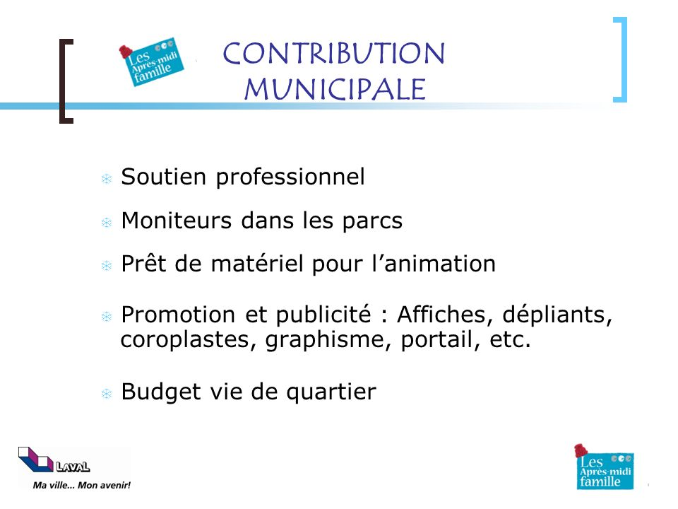 CONTRIBUTION MUNICIPALE