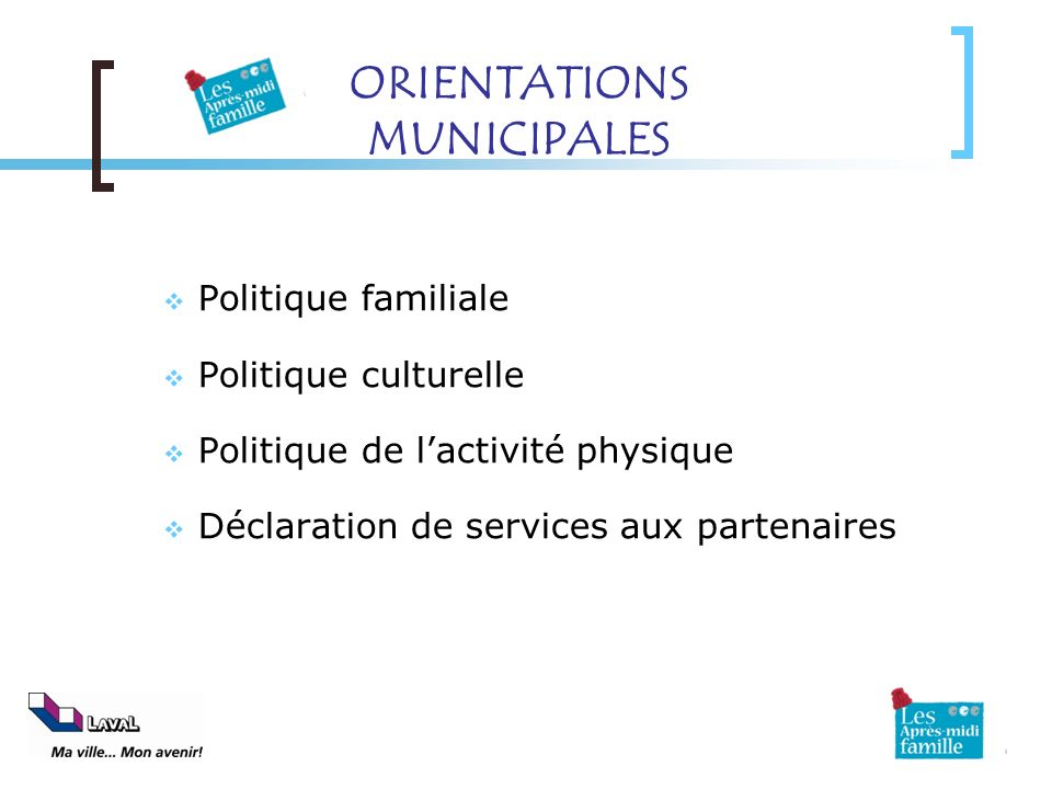 ORIENTATIONS MUNICIPALES
