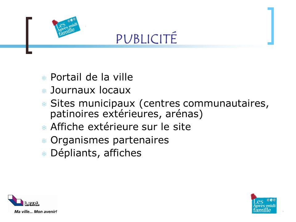 PUBLICITÉ Portail de la ville Journaux locaux