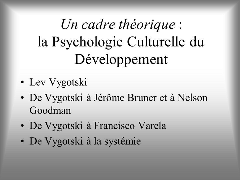 Un cadre théorique : la Psychologie Culturelle du Développement