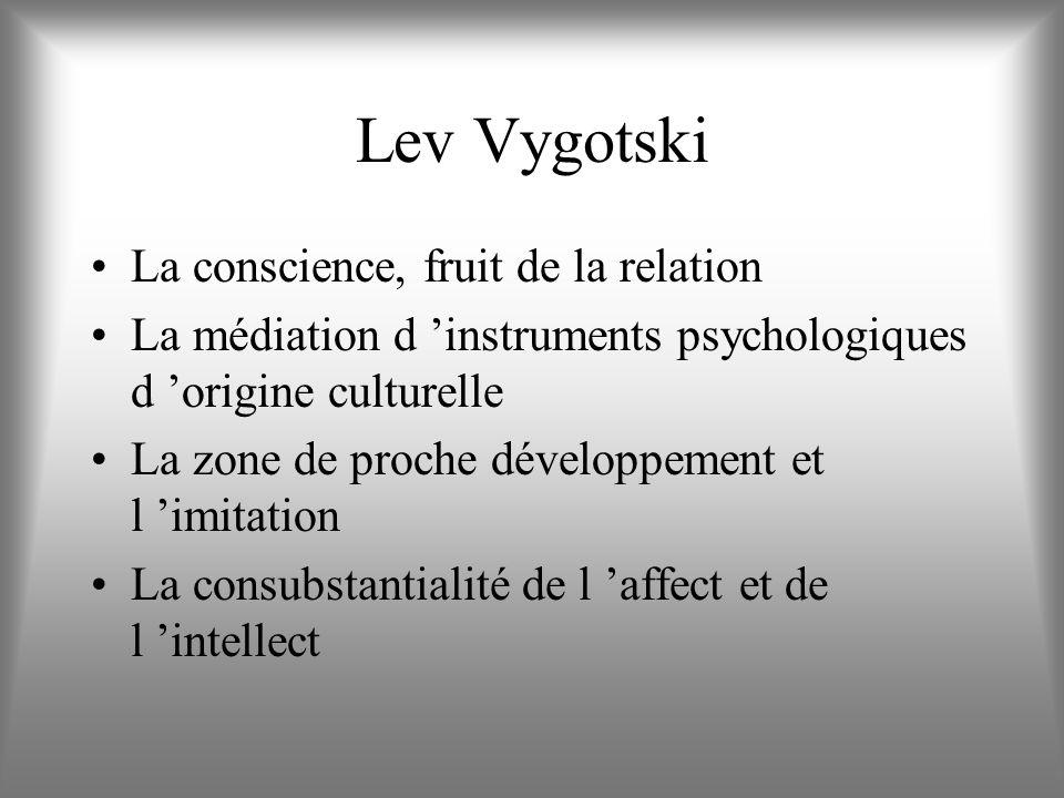 Lev Vygotski La conscience, fruit de la relation