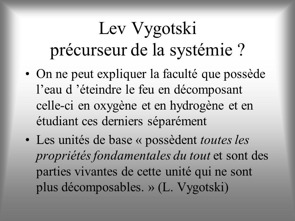 Lev Vygotski précurseur de la systémie
