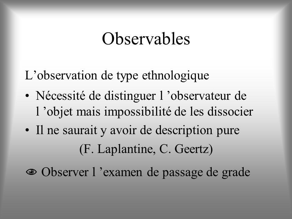 (F. Laplantine, C. Geertz)