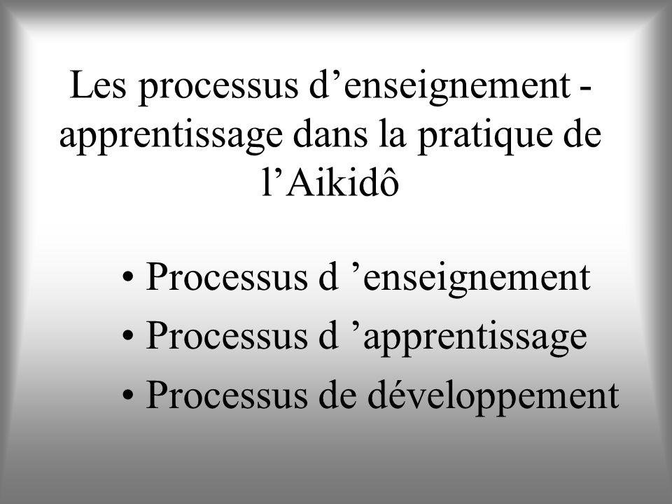 Les processus d'enseignement - apprentissage dans la pratique de l'Aikidô