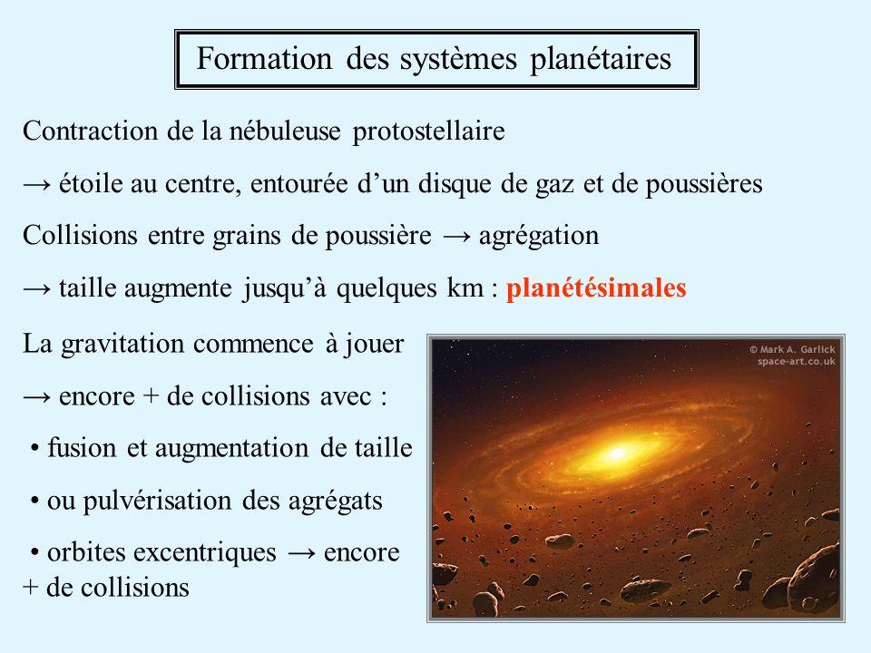 Formation des systèmes planétaires