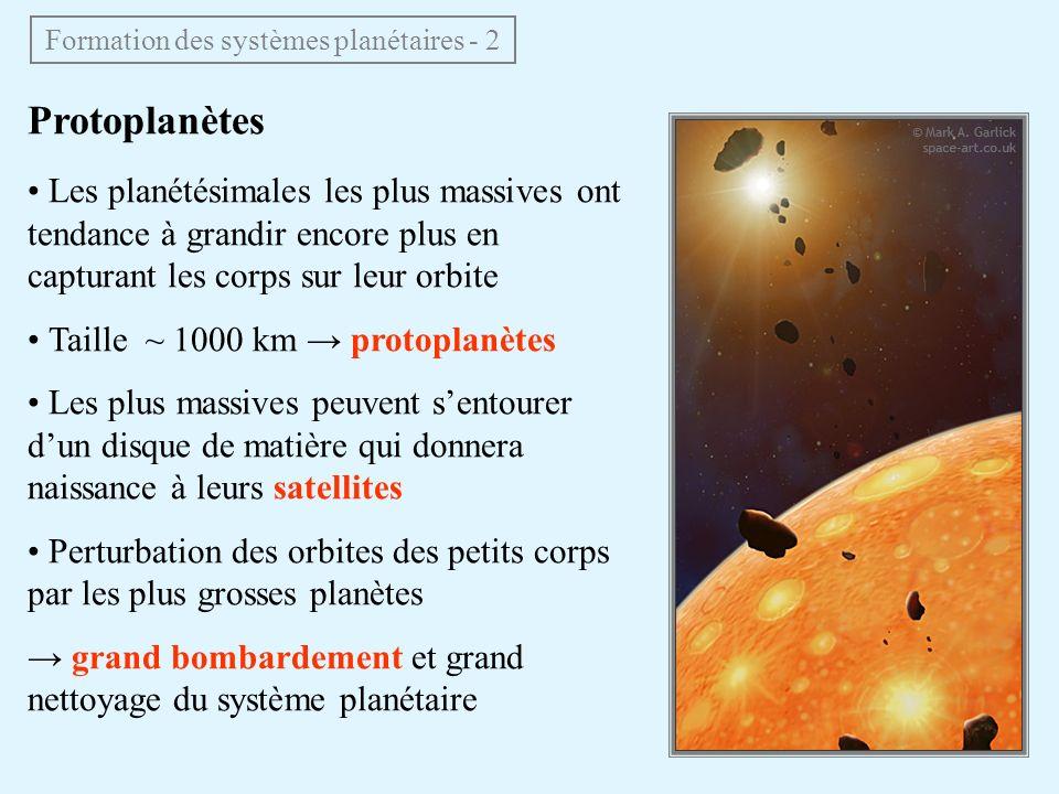 Formation des systèmes planétaires - 2