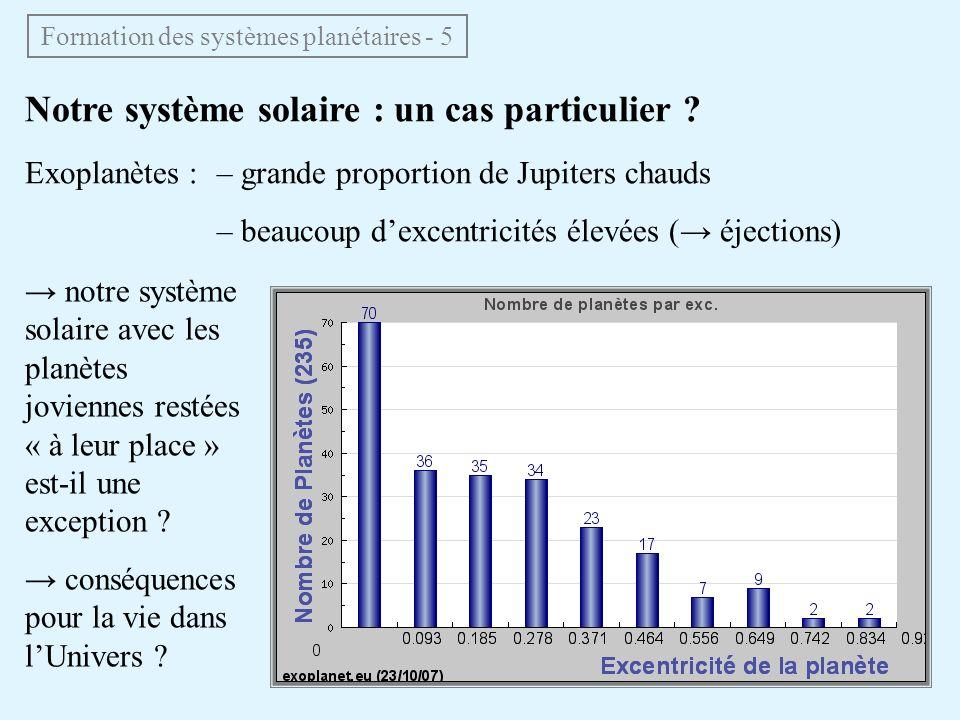 Formation des systèmes planétaires - 5