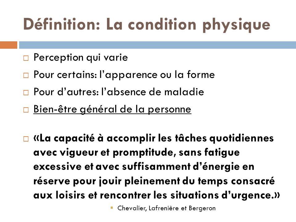 Définition: La condition physique