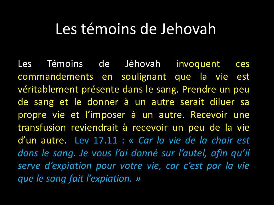 Les témoins de Jehovah