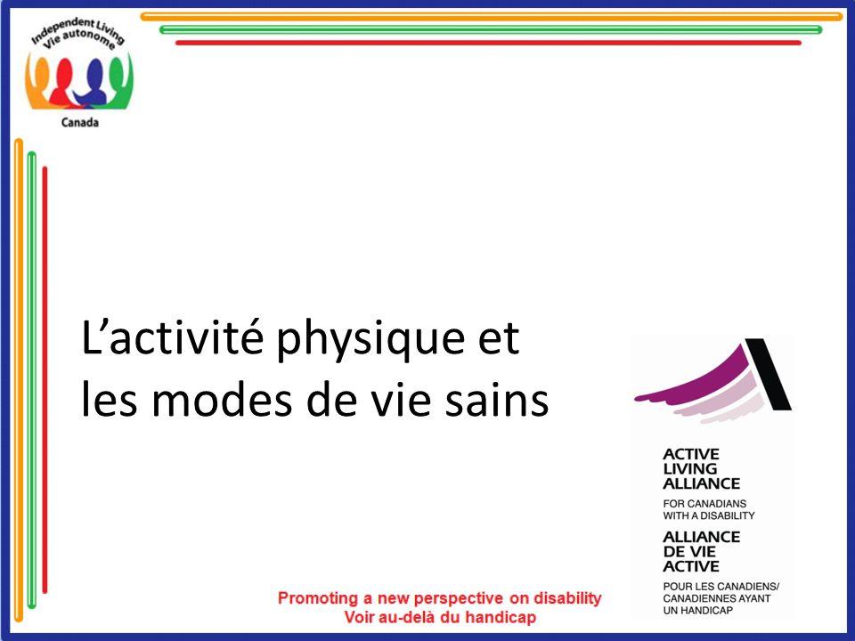 L'activité physique et les modes de vie sains