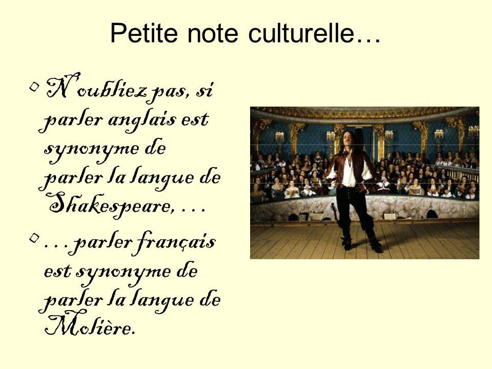 Petite note culturelle…